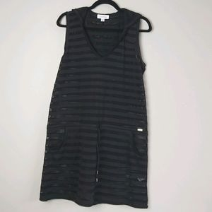 Calvin Klein Swimsuit Hood Cover Up Black S/M